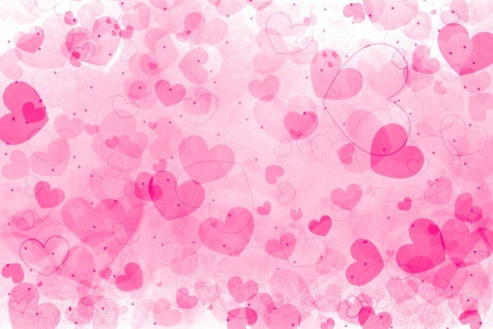 Abstract pink hearts art background